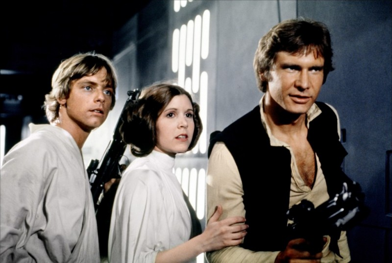 Mark Hamill, Carrie Fisher, Harrison Ford ve filmu Star Wars: Epizoda IV - Nová naděje / Star Wars