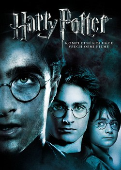 DVD obal komplet Harry Potter