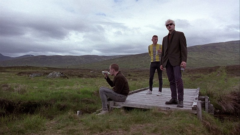Ewan McGregor, Ewen Bremner, Jonny Lee Miller ve filmu Trainspotting / Trainspotting