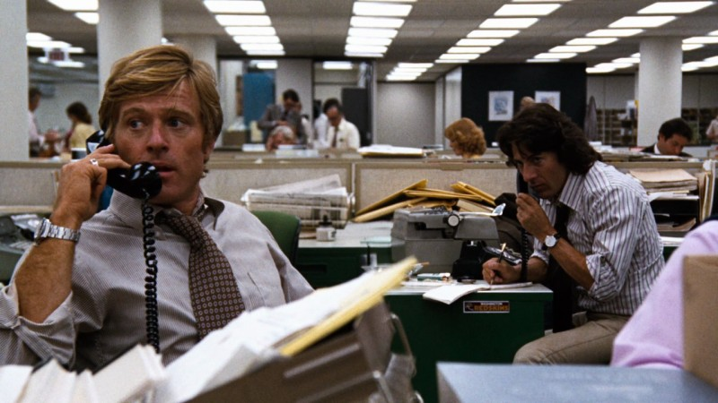 Robert Redford, Dustin Hoffman ve filmu Všichni prezidentovi muži / All the President's Men