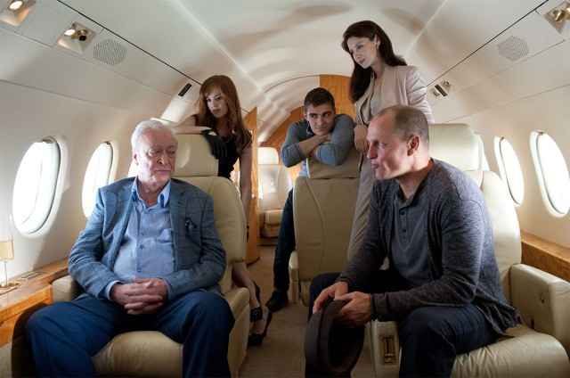 Michael Caine, Isla Fisher, Dave Franco, Woody Harrelson ve filmu Podfukáři / Now You See Me