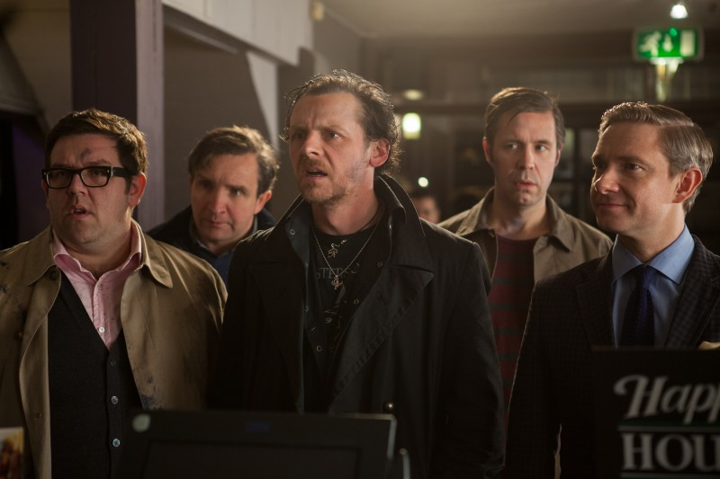 Nick Frost, Eddie Marsan, Simon Pegg, Paddy Considine, Martin Freeman ve filmu U konce světa / The World's End