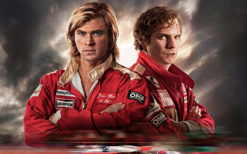 Daniel Brühl, Chris Hemsworth ve filmu Rivalové /