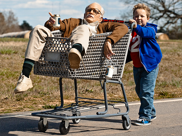 Jackson Nicoll, Johnny Knoxville ve filmu  / Jackass Presents: Bad Grandpa