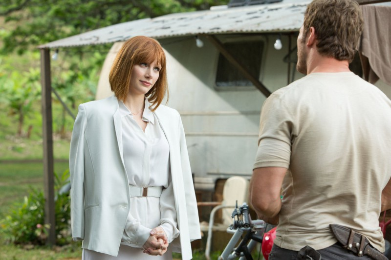 Chris Pratt, Bryce Dallas Howard ve filmu Jurský svět /