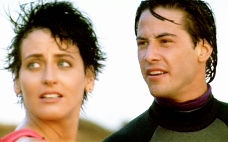 Lori Petty, Keanu Reeves ve filmu Bod zlomu / Point Break