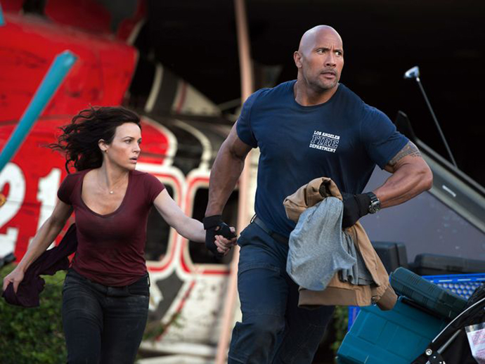 Dwayne Johnson, Carla Gugino ve filmu  / San Andreas