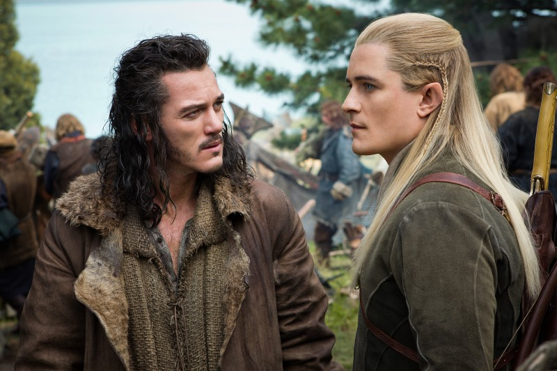 Orlando Bloom, Luke Evans ve filmu Hobit: Bitva pěti armád / The Hobbit: The Battle of the Five Armies