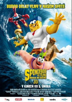 Český plakát filmu SpongeBob ve filmu: Houba na suchu / The SpongeBob Movie: Sponge Out of Water