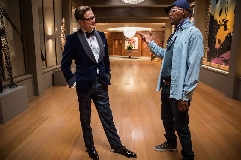 Samuel L. Jackson, Colin Firth ve filmu Kingsman: Tajná služba / Kingsman: The Secret Service