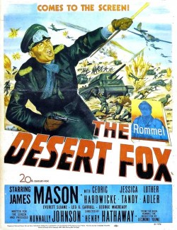 Plakát filmu Liška pouště / The Desert Fox: The Story of Rommel