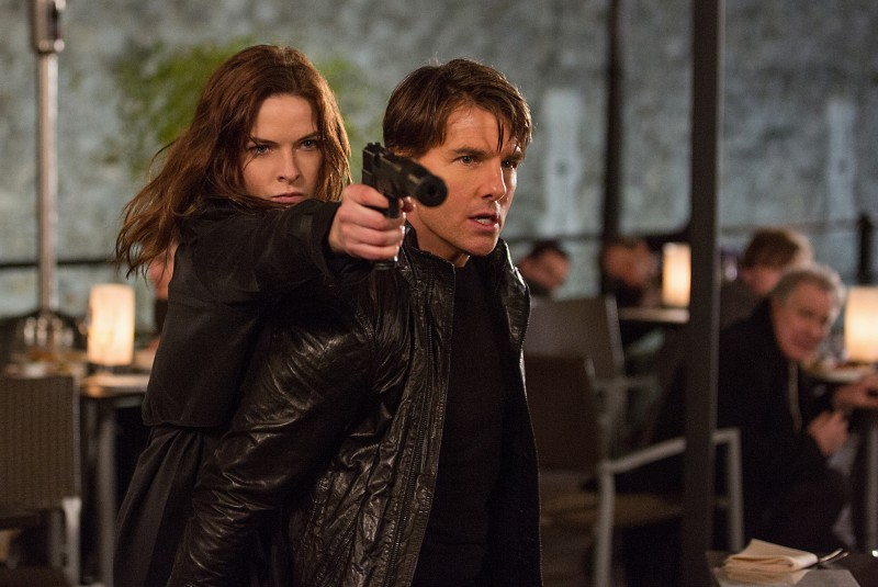 Tom Cruise, Rebecca Ferguson ve filmu Mission: Impossible - Národ grázlů / Mission: Impossible - Rogue Nation