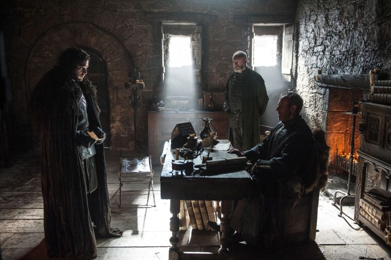 Kit Harington, Stephen Dillane, Liam Cunningham ve filmu Hra o trůny / Game of Thrones
