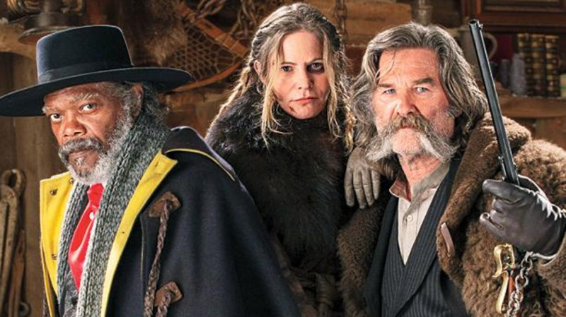Kurt Russell, Samuel L. Jackson, Jennifer Jason Leigh ve filmu Osm hrozných / The Hateful Eight
