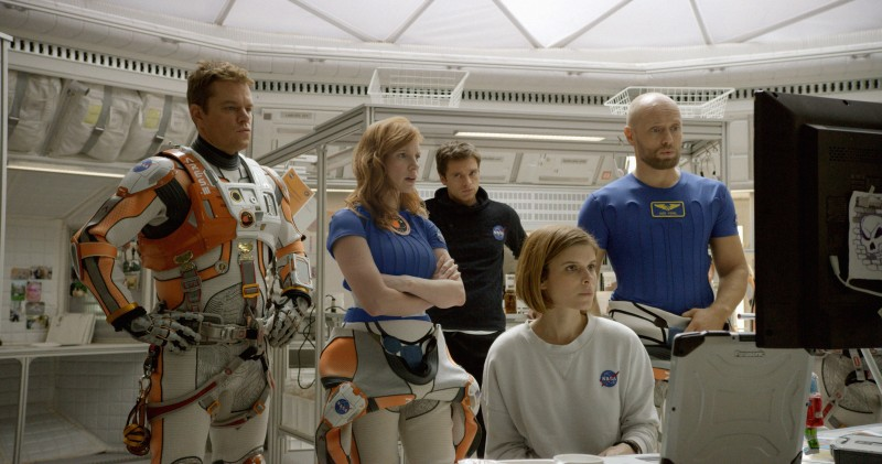 Matt Damon, Jessica Chastain, Aksel Hennie ve filmu Marťan / The Martian