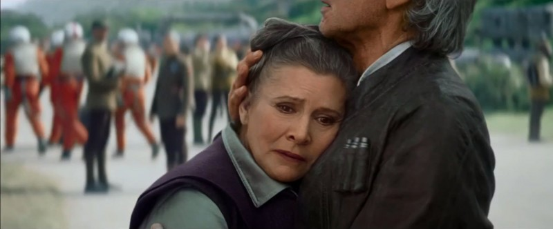 Carrie Fisher, Harrison Ford ve filmu Star Wars: Síla se probouzí /