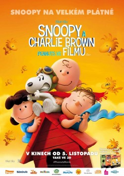 Český plakát filmu Snoopy a Charlie Brown. Peanuts ve filmu / The Peanuts Movie