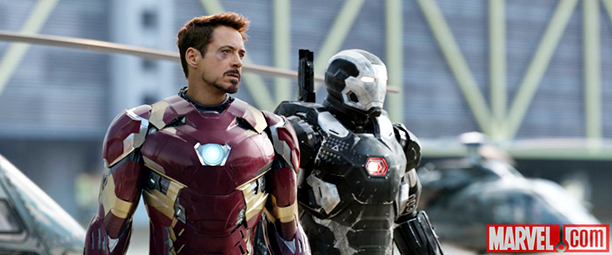 Robert Downey Jr., Don Cheadle ve filmu Captain America: Občanská válka / Captain America: Civil War
