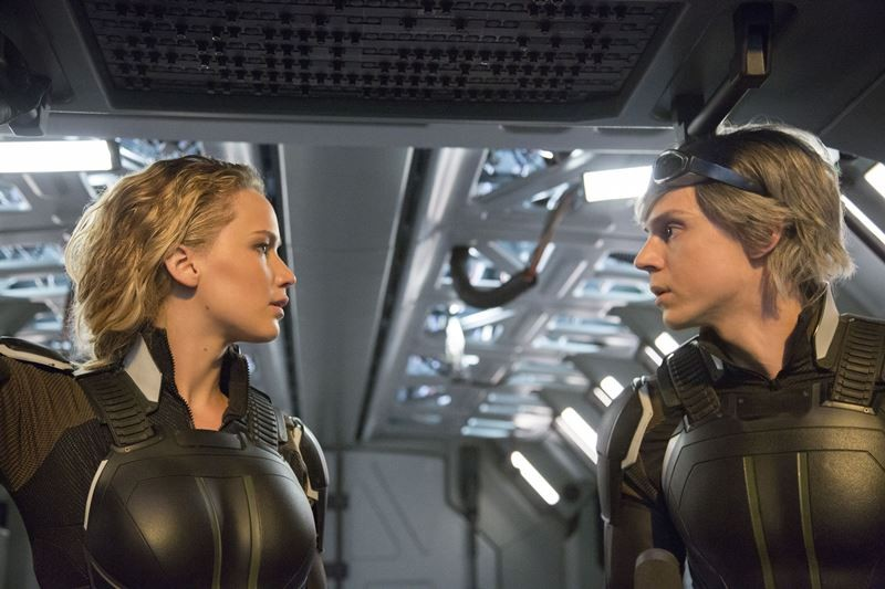 Jennifer Lawrence, Evan Peters ve filmu X-Men: Apokalypsa / X-Men: Apocalypse