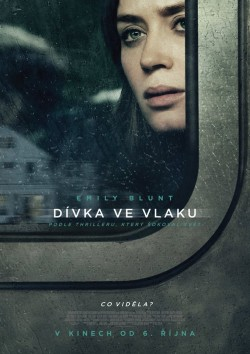 Český plakát filmu Dívka ve vlaku / The Girl on the Train