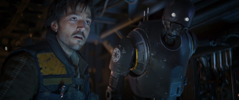 Diego Luna, Alan Tudyk ve filmu Rogue One: Star Wars Story / Rogue One: A Star Wars Story