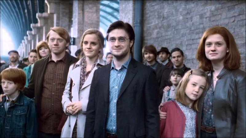 Rupert Grint, Emma Watson, Daniel Radcliffe, Bonnie Wright ve filmu Harry Potter a Relikvie smrti - část 2 / Harry Potter and the Deathly Hallows: Part 2