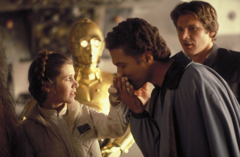 Carrie Fisher, Billy Dee Williams, Harrison Ford ve filmu Star Wars: Epizoda V - Impérium vrací úder / Star Wars: Episode V - The Empire Strikes Back