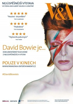 Český plakát filmu David Bowie je... / David Bowie Is Happening Now