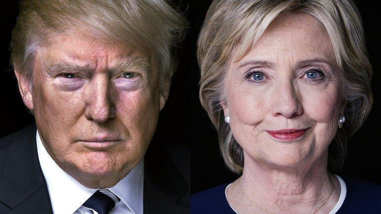Donald Trump a Hillary Clinton