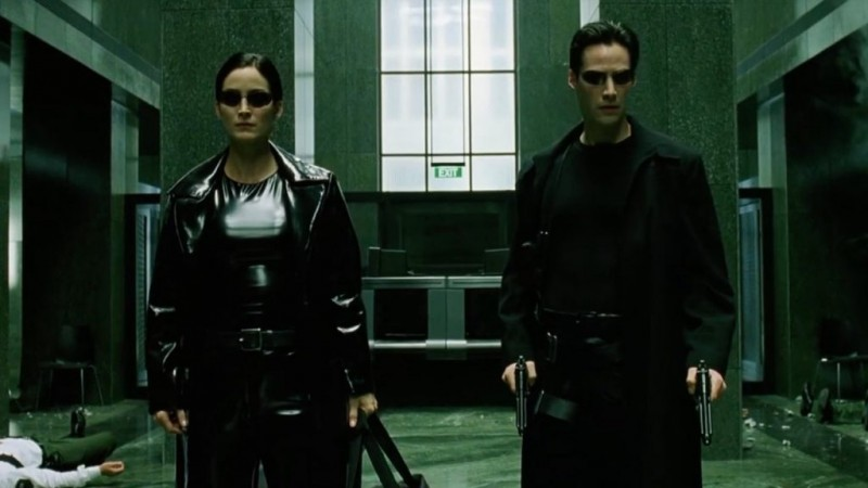 Carrie-Anne Moss, Keanu Reeves ve filmu Matrix / The Matrix