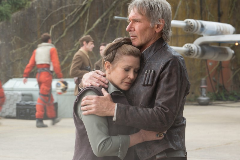 Harrison Ford, Carrie Fisher ve filmu Star Wars: Síla se probouzí / Star Wars: Sila se probouzi
