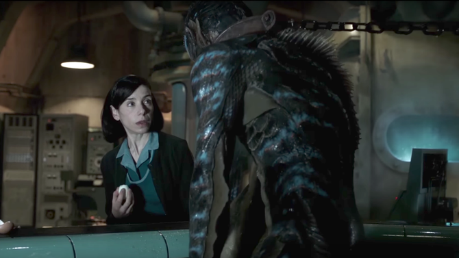 Sally Hawkins ve filmu Tvář vody / The Shape of Water