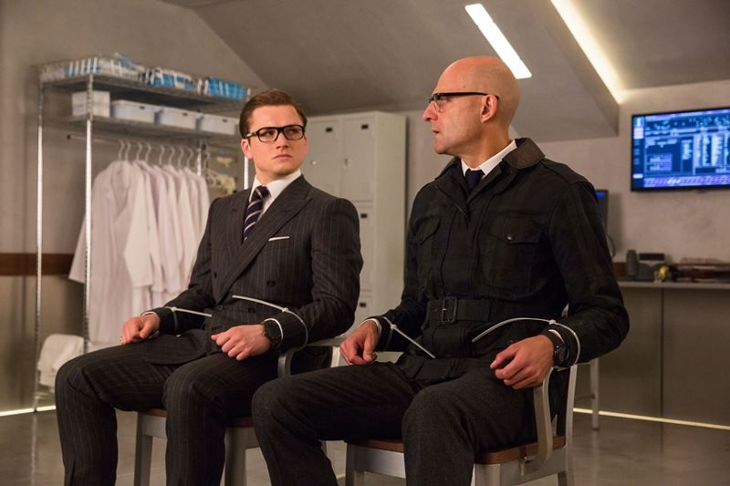 Taron Egerton, Mark Strong ve filmu Kingsman: Zlatý kruh / Kingsman: The Golden Circle