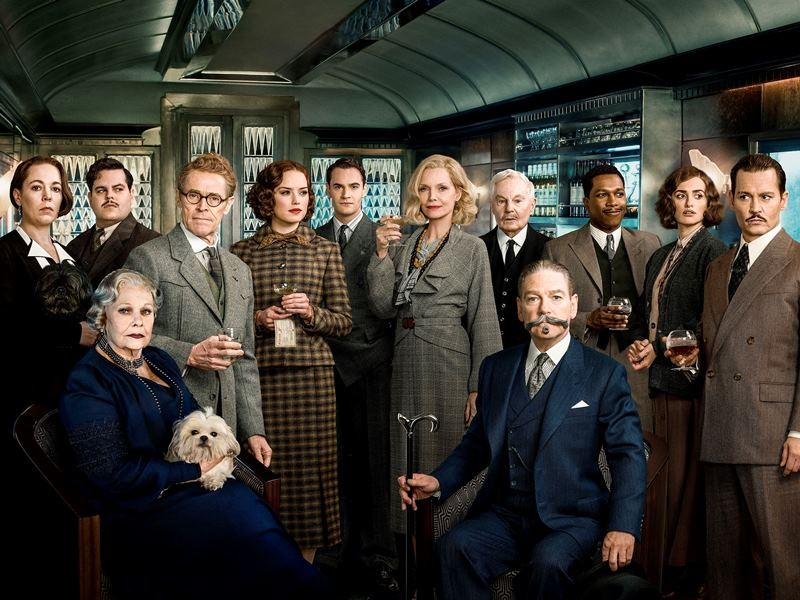 Josh Gad, Willem Dafoe, Daisy Ridley, Tom Bateman, Michelle Pfeiffer, Derek Jacobi, Leslie Odom Jr., Penélope Cruz, Johnny Depp, Judi Dench, Kenneth Branagh ve filmu Vražda v Orient expresu / Murder on the Orient Express