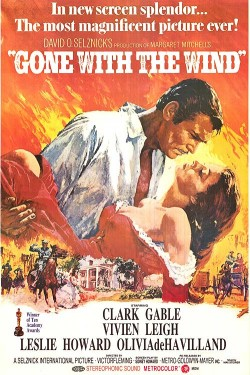 Plakát filmu Jih proti Severu / Gone with the Wind