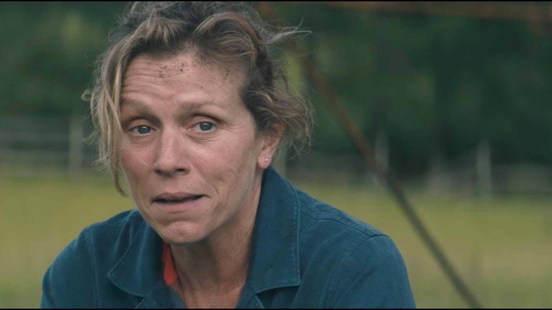 Frances McDormand ve filmu Tři billboardy kousek za Ebbingem / Three Billboards Outside Ebbing, Missouri