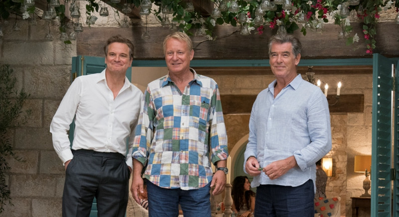 Colin Firth, Stellan Skarsgård, Pierce Brosnan ve filmu Mamma Mia! Here We Go Again / Mamma Mia: Here We Go Again!