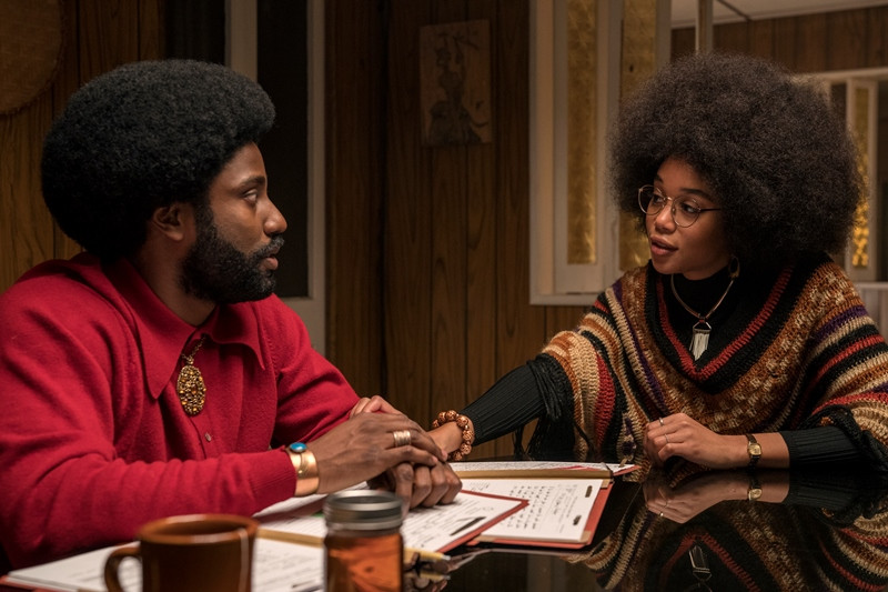 John David Washington, Laura Harrier ve filmu BlacKkKlansman / BlacKkKlansman