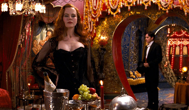 Nicole Kidman ve filmu Moulin Rouge / Moulin Rouge!