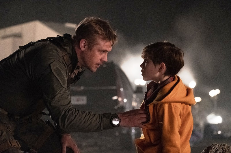 Boyd Holbrook, Jacob Tremblay ve filmu Predátor: Evoluce / The Predator