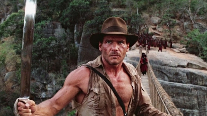 Harrison Ford ve filmu Indiana Jones a chrám zkázy / Indiana Jones and the Temple of Doom