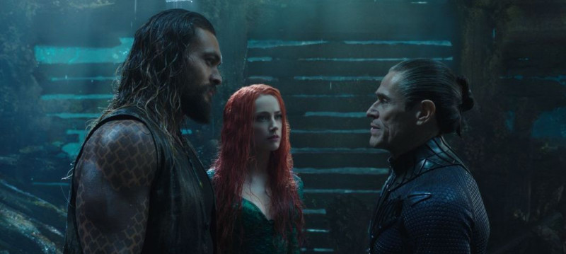 Jason Momoa, Amber Heard, Willem Dafoe ve filmu Aquaman / Aquaman