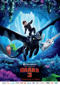 Český plakát filmu Jak vycvičit draka 3 / How to Train Your Dragon: The Hidden World