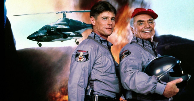 Jan-Michael Vincent, Ernest Borgnine ve filmu  / Airwolf