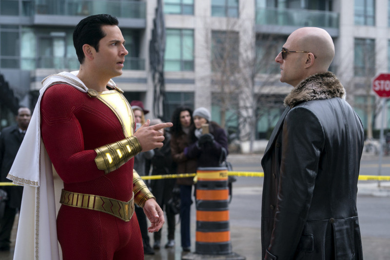 Mark Strong, Zachary Levi ve filmu Shazam! / Shazam!