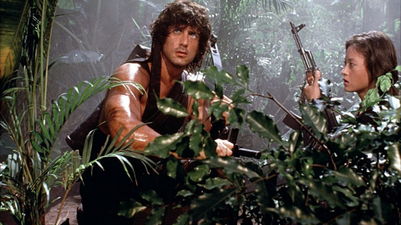 Sylvester Stallone, Julia Nickson-Soul ve filmu Rambo II / Rambo: First Blood Part II