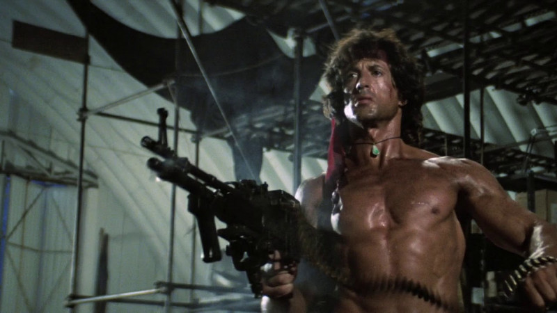 Sylvester Stallone ve filmu Rambo II / Rambo: First Blood Part II