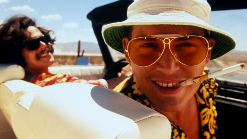 Johnny Depp, Benicio del Toro ve filmu Strach a hnus v Las Vegas / Fear and Loathing in Las Vegas