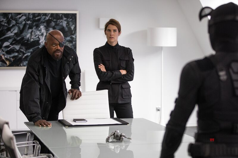 Samuel L. Jackson, Cobie Smulders, Tom Holland ve filmu Spider-Man: Daleko od domova / Spider-Man: Far from Home