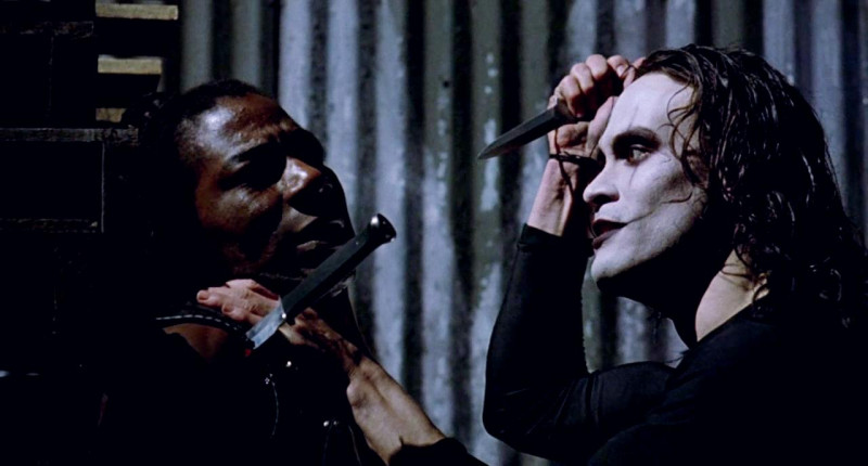 Brandon Lee, Laurence Mason ve filmu Vrána / The Crow